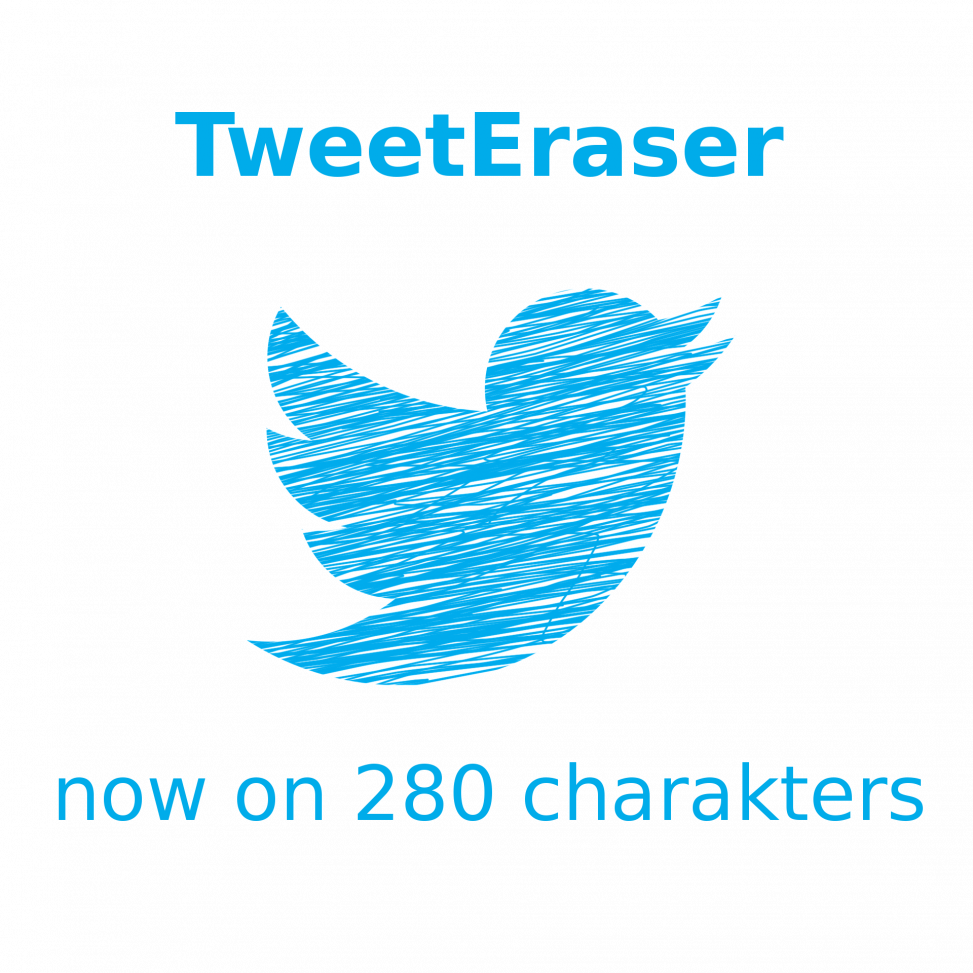 TweetEraser no on 280 charakters